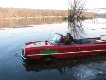 Amphicar hybrid automobile