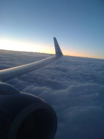 Evening clouds enroute from DEN to MSP