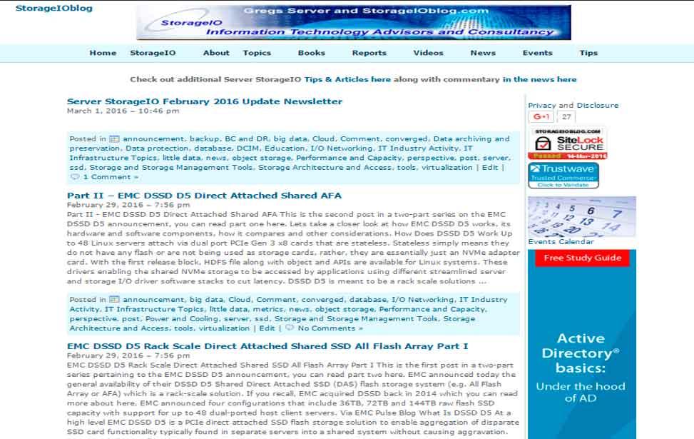 StorageIO Blog Posts