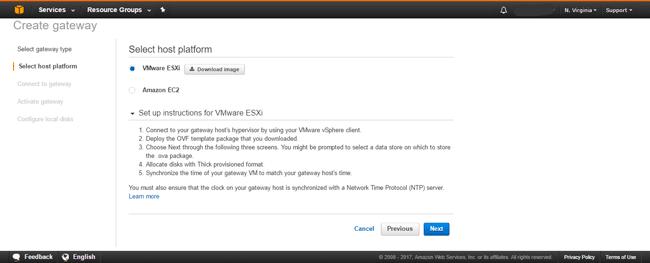 AWS Storage Gateway select download