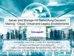 webinar server I/O network performance