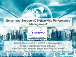 webinar storage network performance