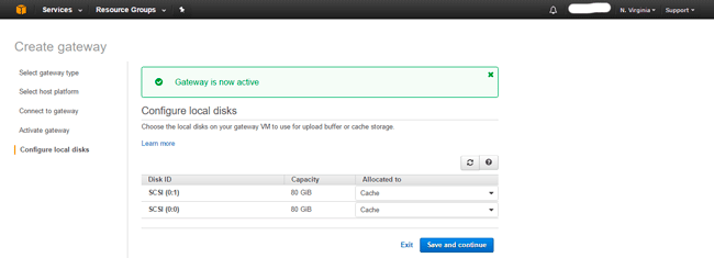 AWS Storage Gateway Cached Volume Deploy