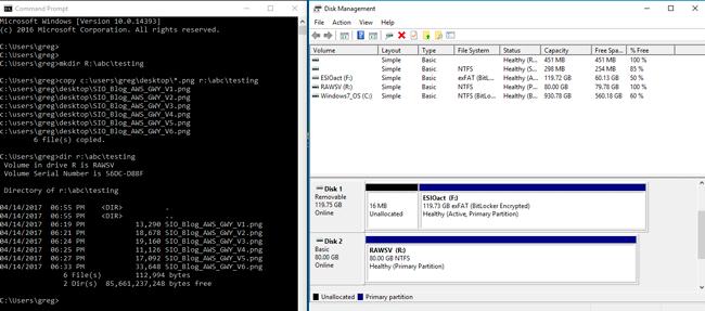 AWS Storage Gateway Being Used by Windows