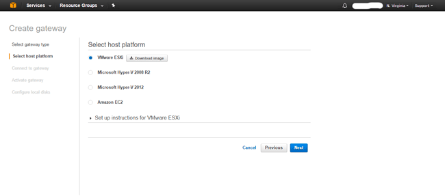 AWS Storage Gateway Configure Volume