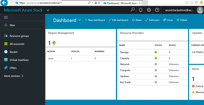 accessing azure stack tp3 management portal dashboard