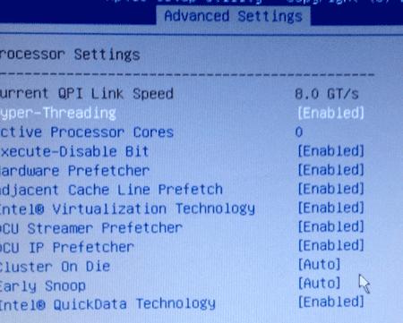 Lenovo Bios Configuration Utility