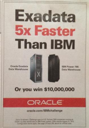Oracle 10 million dollar challenge ad image