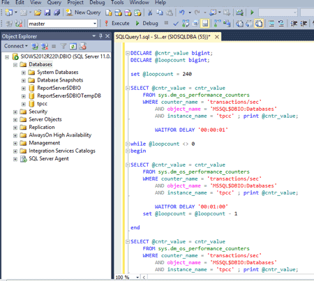 SQL Server script to collect TPM
