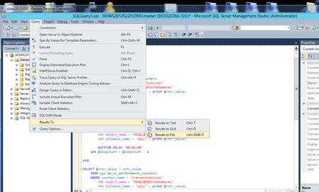 Specify SQL Server tpm output file