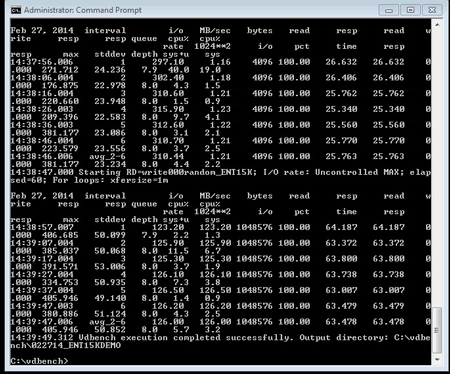 server storage I/O benchmark example