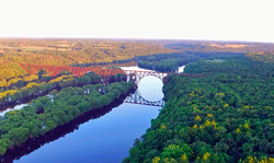 Calm Evening Flight Over St. Croix River