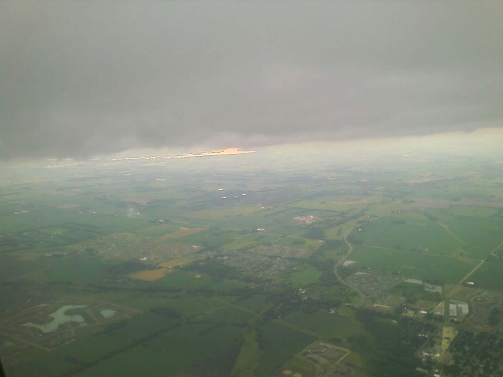 Another view of morning clouds from the air just before landing