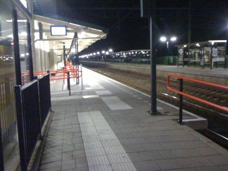 Waiting in Nijkerk for 6:30AM train to Schiphol and on to Denver