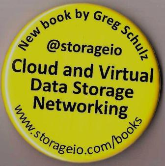 Cloud and Virtual Data Storage Networking buttons handed out at VMworld 2011