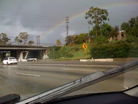 Rainbow seen from 405 north of LAX