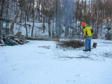 roasting logs