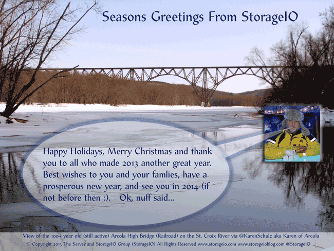 2013 server and storage I/O holiday greetings