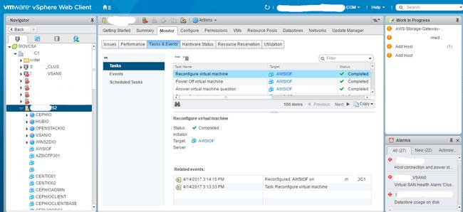 AWS Storage Gateway VM deploy