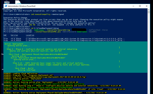 starting azure stack tp3 deployment