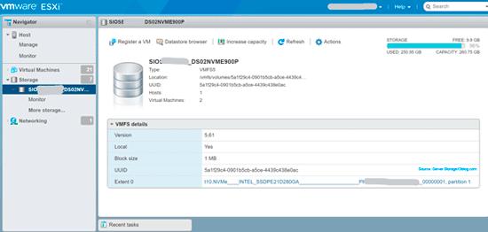 NVMe U.2 8639 and VMware vSphere ESXi