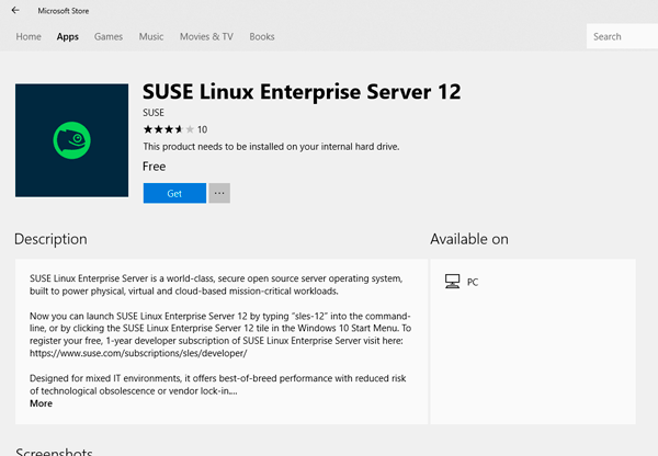 SUSE linux for WSL