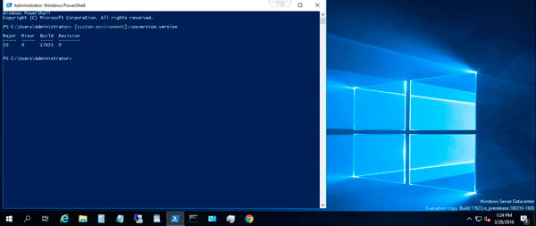 Microsoft Windows Server 2019 Insiders Preview upgrade completed