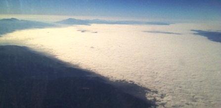 clouds along california coastline