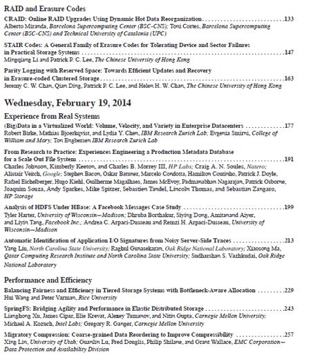 USENIX FAST 2014 Proceedings Index part 2