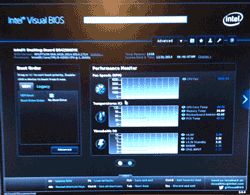 Intel NUC Visual BIOS display