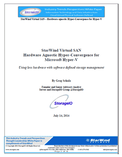 storage I/O StarWind Hyper-V VSAN White Paper
