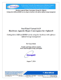 storage I/O StarWind VMware VSAN White Paper