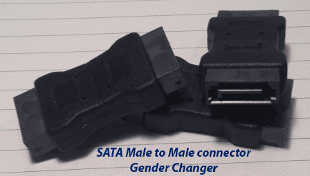 sata male to male gender changer