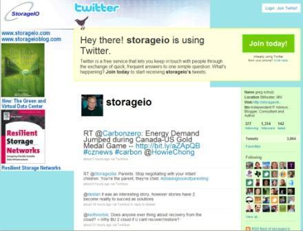 StorageIO on twitter at www.twitter/storageio