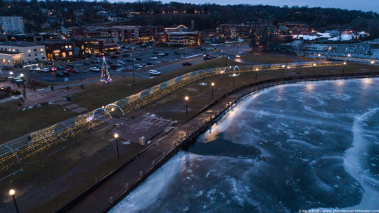 Downtown Stillwater Lights via Pictures Over Stillwater