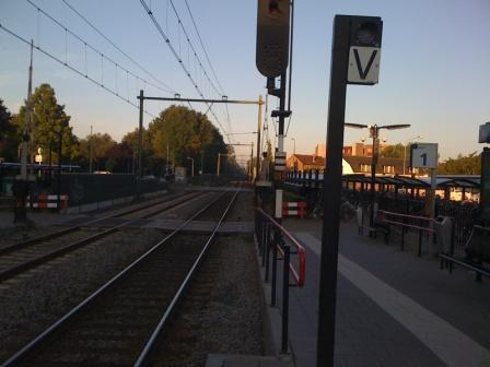 Waiting for morning Train at Nijkerk Station to take me to Amsterdam Airport