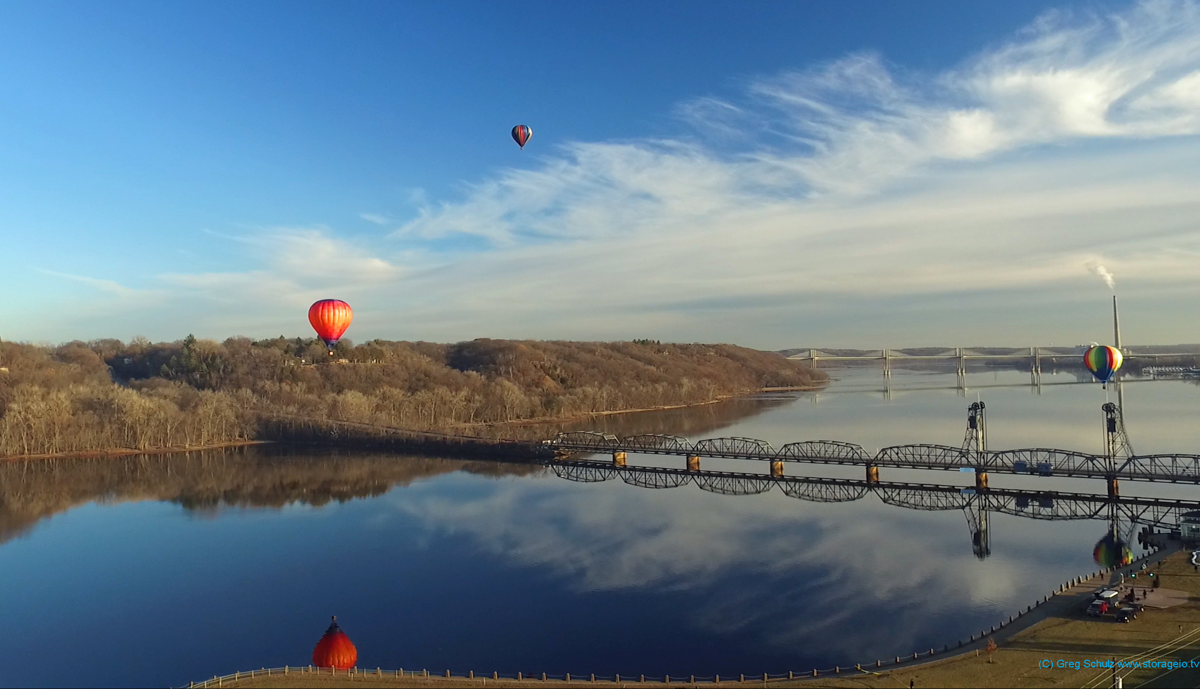 Hot Air Ballons over St. Croix river December 2017